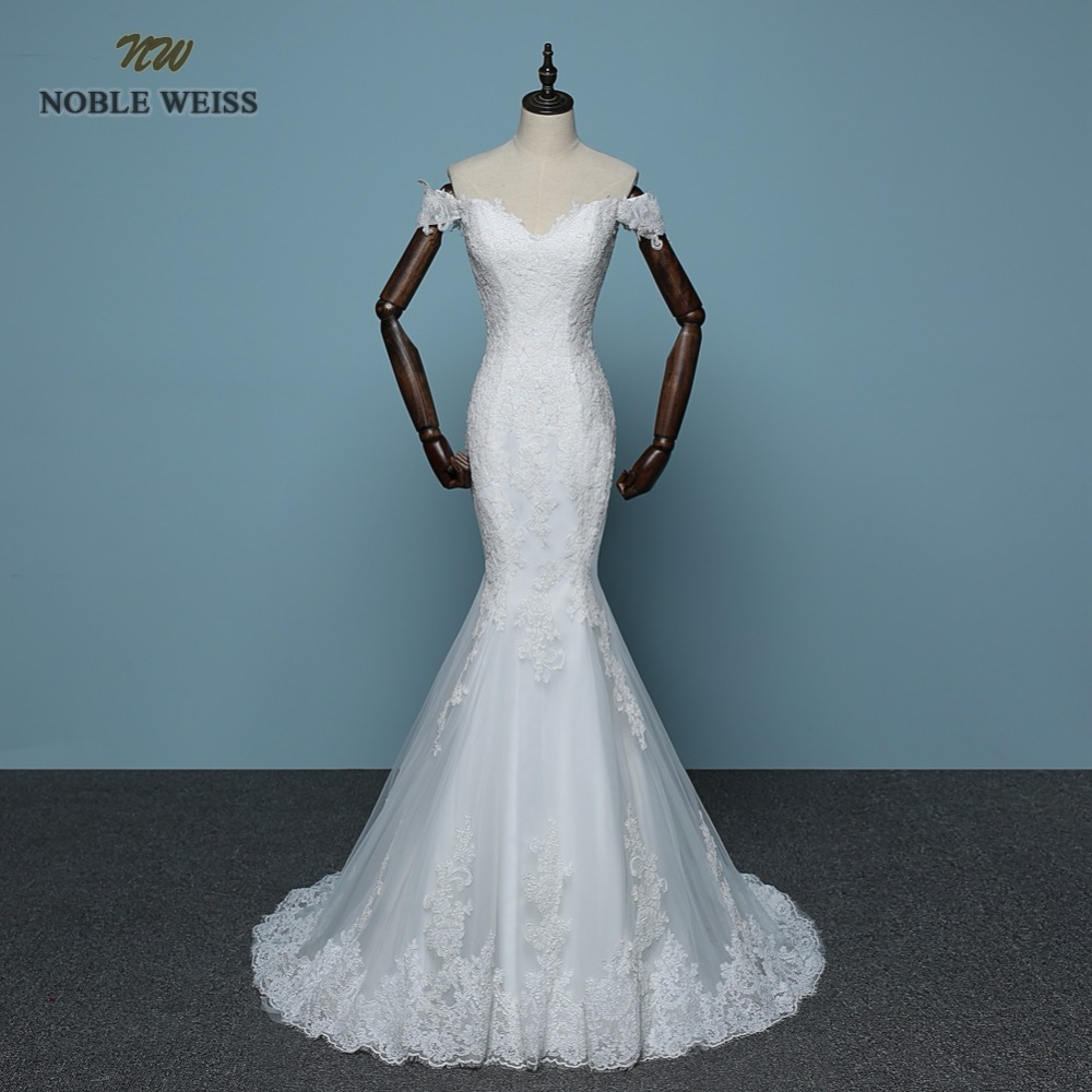 NOBLE WEISS Mermaid Lace Wedding Dress Custom Made Wedding Gown ...
