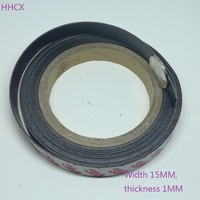 10 Meter Rubber Magnet 15*1 mm self Adhesive Flexible Magnetic Strip Rubber Magnet Tape width 15mm thickness 1mm 15mm x 1mm
