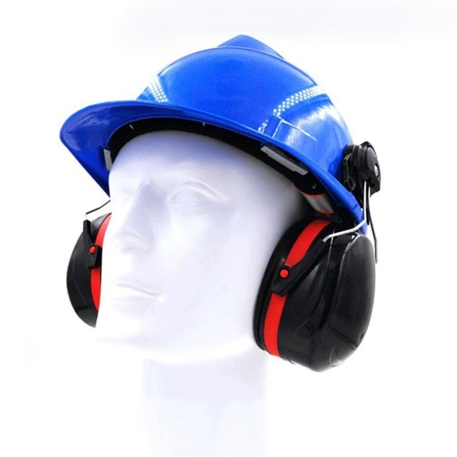 1 Pair Ear Protector Ear Muffs Industry Shooting Sleeping Anti Noise Hearing Protection Sound Proof Earmuff Only Use on Helmet