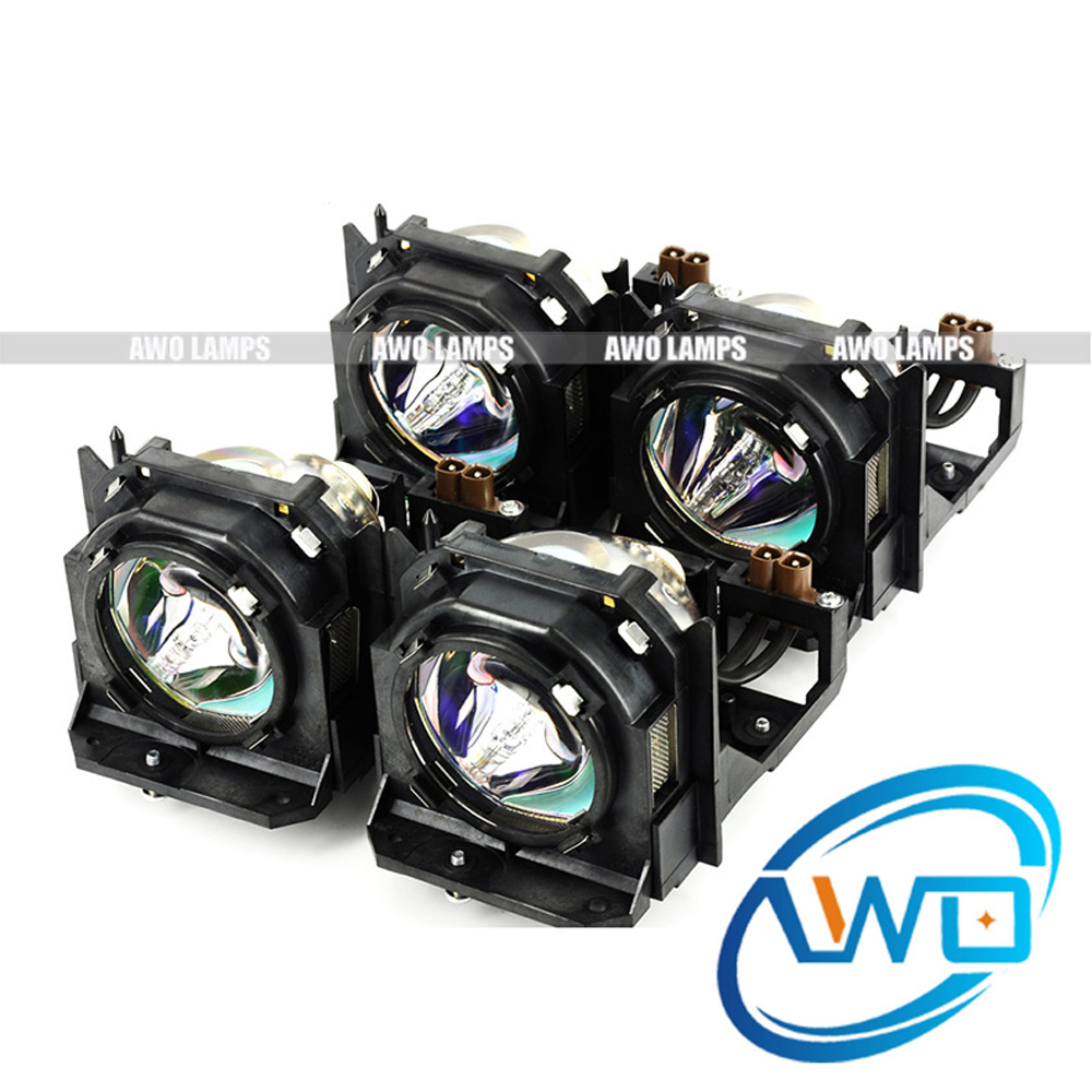 AWO ET-LAD10000F(4UNITS) Replacement Projector Lamp with Housing for PANASONIC PT-D10000/DW10000/ PT-D10000U/PT-DW10000U original projector lamp et lab80 for pt lb75 pt lb75nt pt lb80 pt lw80nt pt lb75ntu pt lb75u pt lb80u