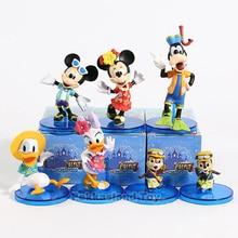 WCF Magic Castle My Happy Life Donald Duck Daisy Duck Goofy Dog Chip Dale PVC Figures Toys 6pcs/set