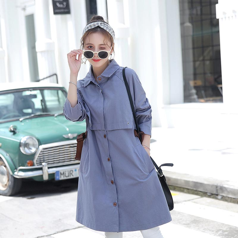 New Fashion Maternity Jackets For Pregnant Women Autumn Pregnacy Jacket Trench Coat For Maternity Clothes pregnant women autumn and winter new windbreaker jacket pregnant women loose casual jacket pregnant women long cotton coat