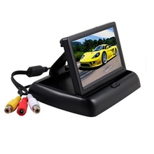 hot deal buy 4.3 inch car display folding hd visual reversing image system car rear view parking monitor system display screen car monitors
