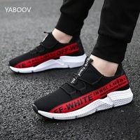 Off White Sneakers Men Casual Shoes Lace up Men Shoes Lightweight Comfortable Breathable Walking Sneaker Tenis Feminino Zapatos