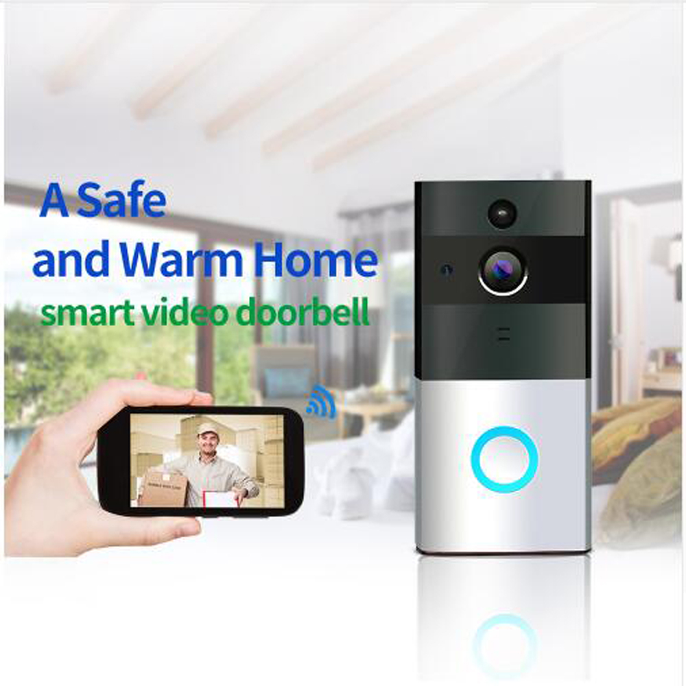 720 P Câmera IP WI-FI Inteligente Campainha Da Porta de Vídeo Sem Fio Da Porta telefone Casa de segurança de visão Noturna duas vias de áudio à prova d' água do bebê monitor de