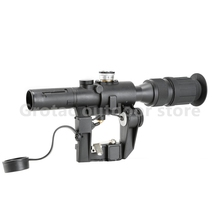 Tactical Red Illuminated 4x24 PSO-1 Type Riflescope for Dragonov SVD Sniper Rifle Series AK Rifle