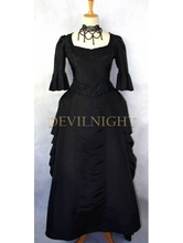 Black Victorian High-Low Gown red and black victorian dresses