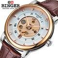 Наручные часы мужские из нержавеющей стали Скелет швейцарские автоматические механические часы мужские сапфировые водонепроницаемые ...