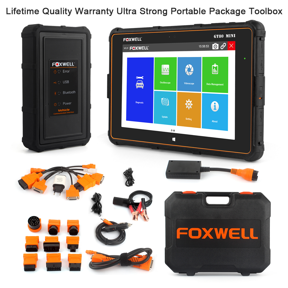 FOXWELL GT80 Mini Full System OBD OBD2 Car Diagnostic Tool Injector Coding DPF Airbag SRS ABS TPMS Reset Auto Automotive Scanner Multan