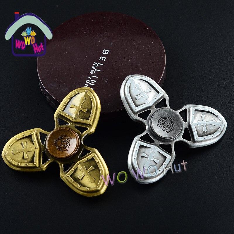 Tri spinner fidget spinner EDC hand spinner spin bronze metal fidget toys For ADHD Austim Learning