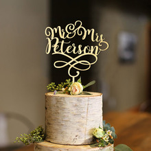 Personalized Mr & Mrs Wedding Cake Topper with Date, Wood Topper, Date Topper,Acrylic