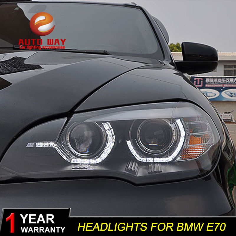 Car Styling Head Lamp case for BMW X5 E70 2007-2010 Headlights X5 E70 LED Headlight DRL Lens Double Beam Bi-Xenon HID