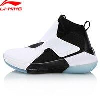 Li Ning Men Skidproof Basketball Shoes Mono Yarn Drive Foam Cushion LiNing Wearable Sports Shoes Smart Sneakers ABAN025 L1019LN