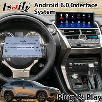 Android 6.0 Video Interface GPS Navigation System for Lexus New NX 300 2017 2019 with Touchpad Bluetooth Google Play Store Waze