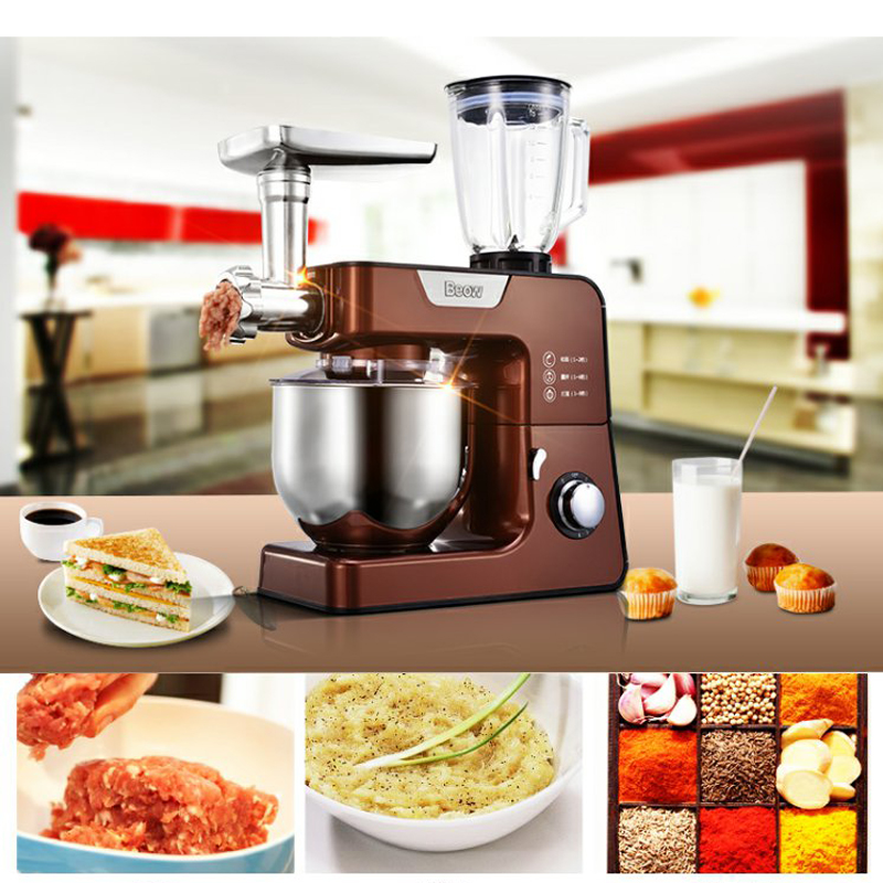 5L Stand mixer Multifunctional Food mixer Dough knead machine Meat grinder Juice Chef machine Food procesor BO-C03 free shipping quality multifunctional stand mixer 20l 30l food mixer machine dough mixer machine planetary mixer