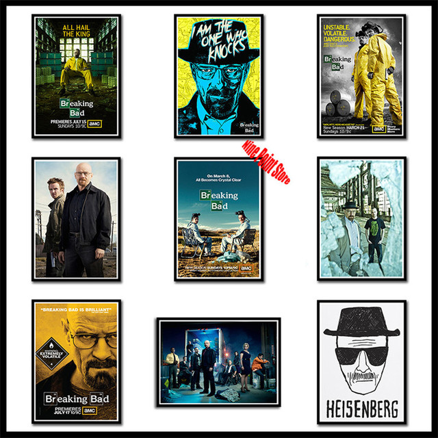 Breaking Bad Posters Movie Coated Paper Wall Sticker Home Decor
