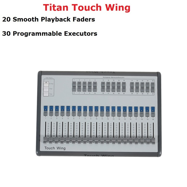 1 Units Touch Wing DMX Console Professional Stage Lighting Controller Supports All Titan Console Tiger Touch Quartz Consoles
