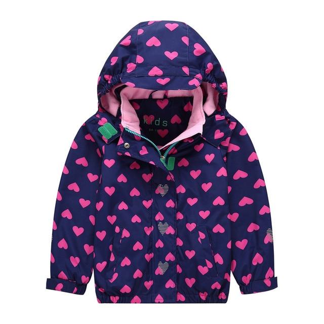 Новинка 2019 года, весенне-осенние куртки для девочек, теплые ветрозащитные непромокаемые куртки для маленьких девочек, детская верхняя одежда, Зимние флисовые куртки