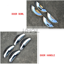 цена на ABS chrome door handle door bowl for BYD F0,Free shipping car-styling plastic plating trim protective film auto cover stickers