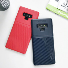 Armor Carbon Fiber Matte TPU Silicone Case For Samsung Galaxy Note 9 8 S9 S8 S7 Edge J3 J5 J7 Pro A3 A5 A7 2016 2017 Cover Cases(China)
