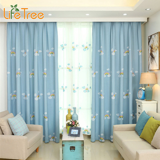 Blackout Curtains boys blue blackout curtains : Aliexpress.com : Buy Rainbow Embroidered Children Blackout ...