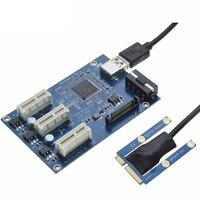 Mini PCIe 1 To 3 PCI Express 1X Slots Riser Card Mini ITX To External 3