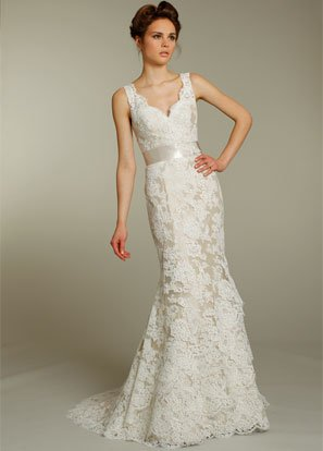 Bz9161 Free Shipping High Quality Ivory Alencon Lace Over Taupe