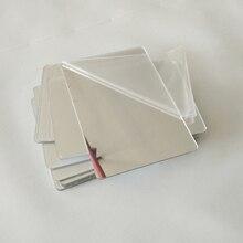 3 шт. 3D зеркальные Акриловые Настенные стикеры s креативные Квадратные Зеркальные Стикеры для спальни настенные Декорации для семейного украшения дома наклейка