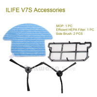 Original ILIFE V7S Robot Vacuum Cleaner Mop And Efficient HEPA Filter 1 Pc Side Brush 2