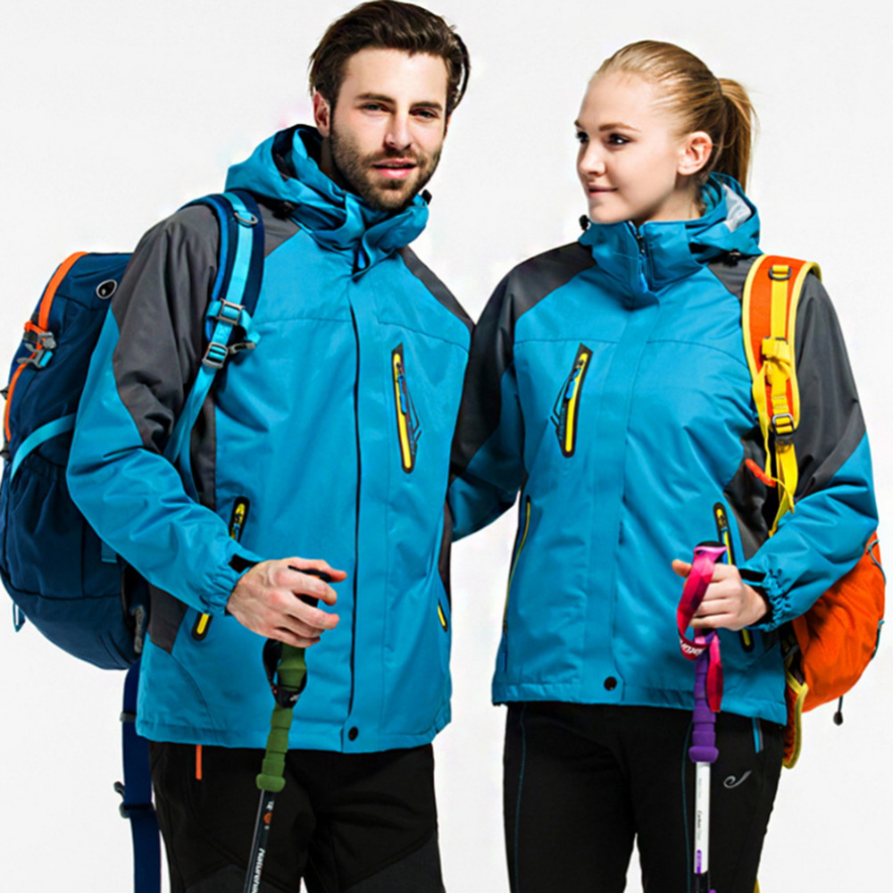 ФОТО 1 pcs Lovers outdoor jacket Outdoor climbing coats two-piece zipper wind jacket Sport Windbreaker coats with the paragraph