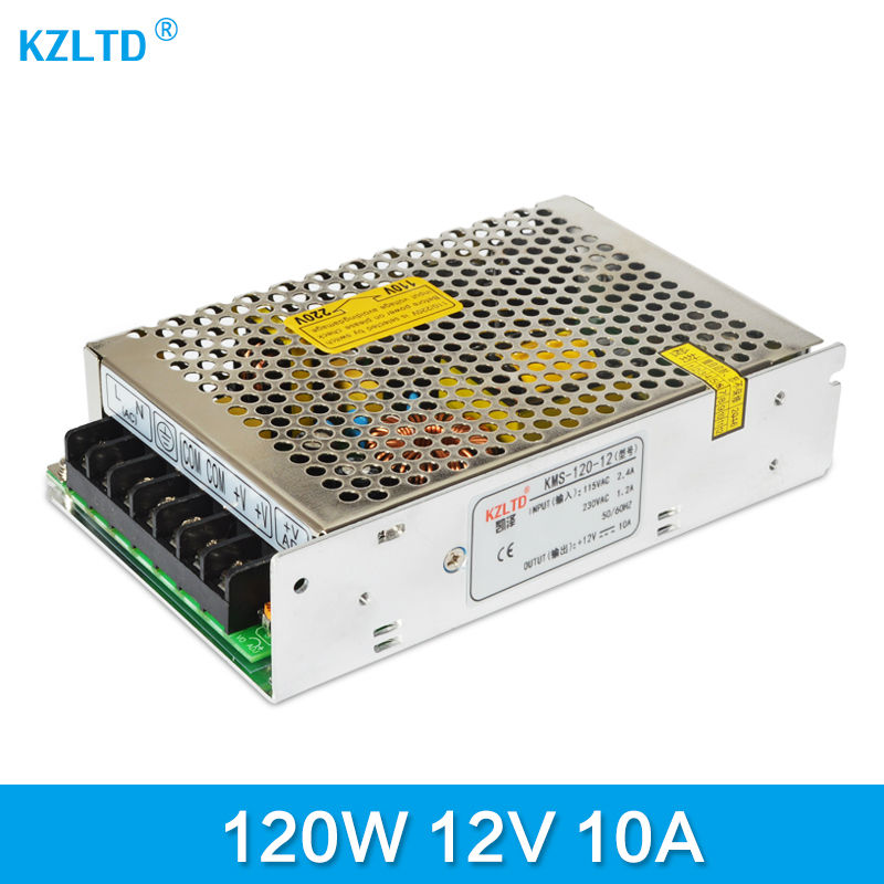 LED Power Supply 12V 10A Single Output AC DC Switching Power Supply 12V 10A 120W 110 / 220 to 12V for LED Light High Quality meanwell 12v 350w ul certificated nes series switching power supply 85 264v ac to 12v dc