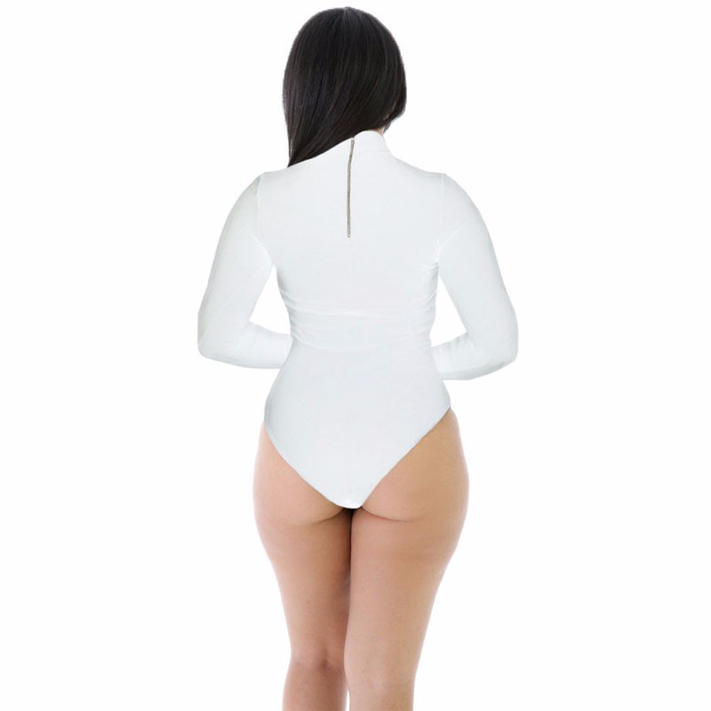 White-Stretchy-Turtleneck-Long-Sleeve-Bodysuit-LC32081-1-2