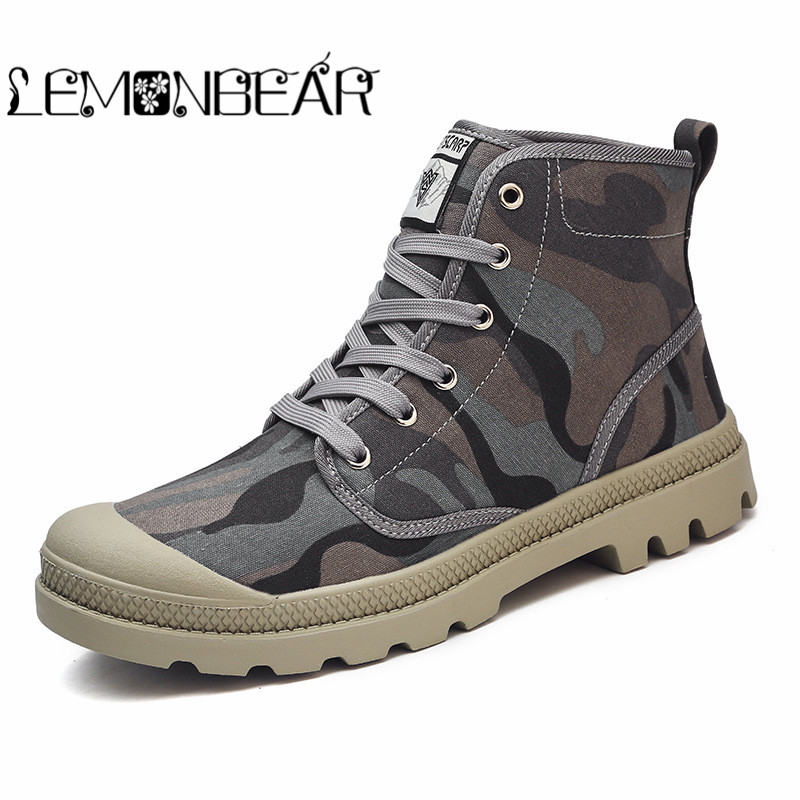 Men Shoes Big Size 36-46 Fashion High Top Canvas Casual Shoes Patchwork Men's Vulcanize Shoes Autumn Winter Lace Up Ankle Boot