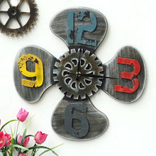 Vintage Industry Style Novelty Wall Clock Digital Wood Wall Clocks Watches Roman Fan Shaped  Oversized Gifts Crafts Home Decor