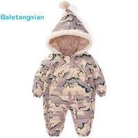 Kids Down Cotton Jumpsuit Newborn Rompers Winter coat Thick Boy Snow Overalls Girl Baby clothes Snow Wear Snowsuit Infant Jacket