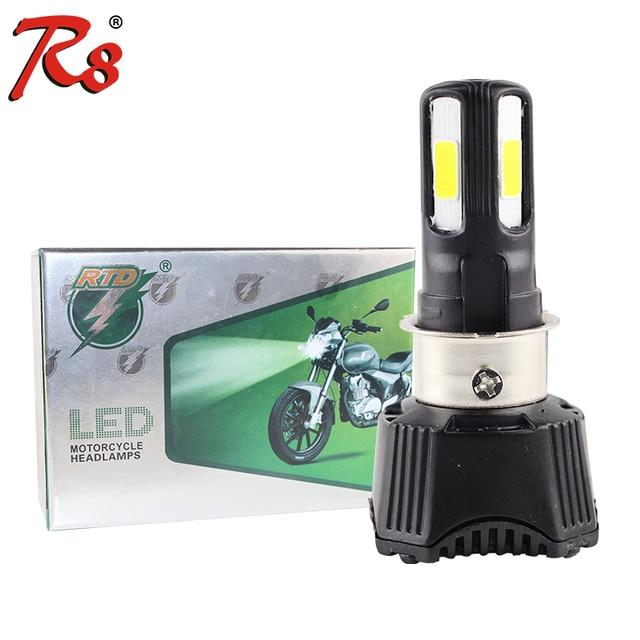 קל להתקין אוניברסלי אופנוע M02H פנס LED הנורה 4cob AC DC 40w 4400LM H4 HS1 H6 Hi/Lo קרן 360 תואר גבוהה כוח