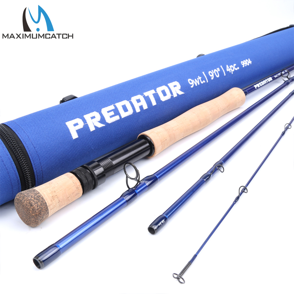 Maximumcatch Saltwater Fly Fishing Rod 8/9/10/12WT 9FT 4SEC Fast Action 30T SK Carbon Fiber Fly Rod With Cordura Rod Tube цена