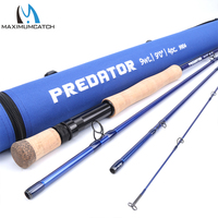 Maximumcatch Saltwater Fly Fishing Rod 8/9/10/12WT 9FT 4SEC Fast Action 30T SK Carbon Fiber Fly Rod With Cordu ra Rod Tube