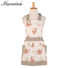 Купить с кэшбэком Neoviva Canvas Painting Apron with Pockets for Toddler, Style Little Diana, Floral Nitong Roses