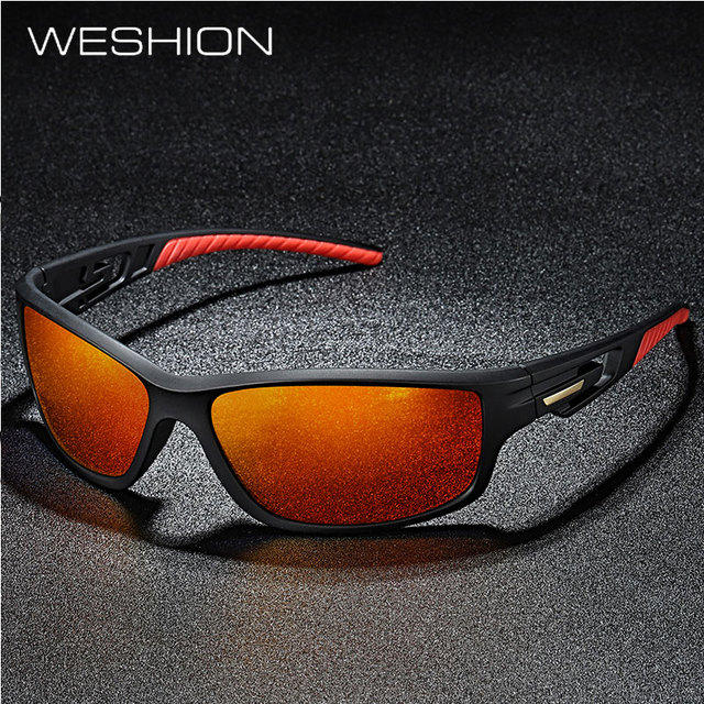 a2e14f3f46c WESHION Sport Sunglasses Men Polarized Brand Designer Outside Sun Glasses  2018 TR90 Goggles Best Quality UV400 Zonnebril Mannen