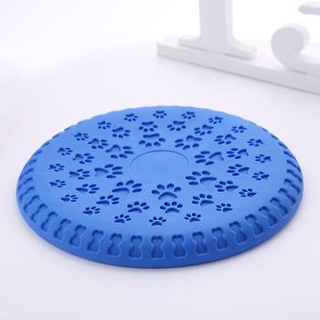 Popularne zaopatrzenie dla zwierząt domowych materiał gumowy termoplastyczny latające dyski na świeżym powietrzu interaktywne zabawka szkoleniowa przenośny zabawki dla psów dla duże psy sprzęt sportowy tanie i dobre opinie RUBBER Frisbee Dogs Green Blue Orange 220g Diameter 23cm piece 0 22kg (0 49lb ) 25cm x 25cm x 5cm (9 84in x 9 84in x 1 97in)