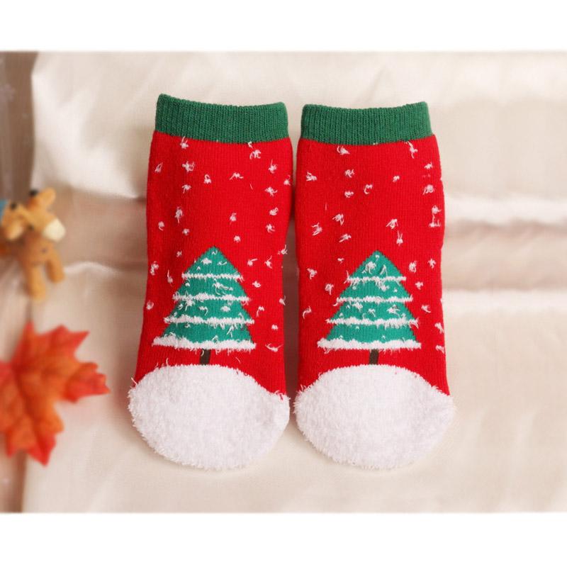 tema de navidad los nios de dibujos animados de algodn calcetines de invierno gruesos calcetines absorber