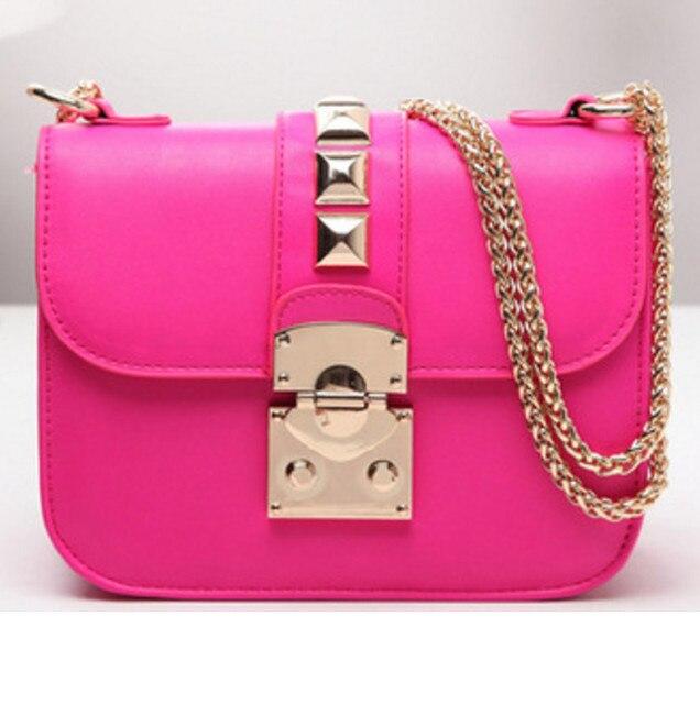 Free shipping ! New 2016 Hot sales women messenger bag Large rivet Shoulder bag top quality chain Handbag evening bags wholesale