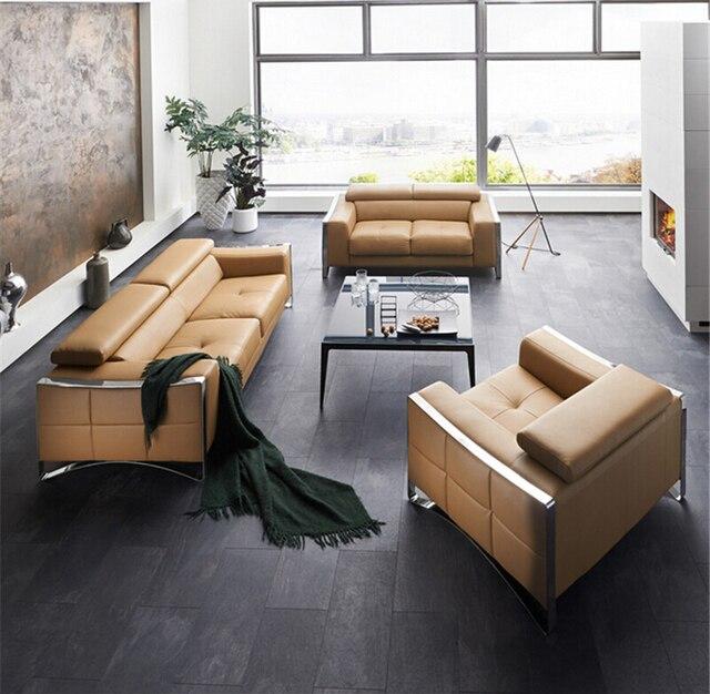 Moderne Sitzgruppe Mit Echtem Leder Sofa Für Wohnzimmer Sofa Möbel