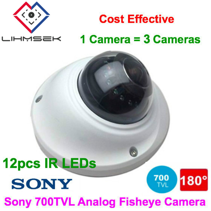 HD Sony 700TVL Analog Dome 360 Degree Wide Angle CCTV Camera Fish eye for Home