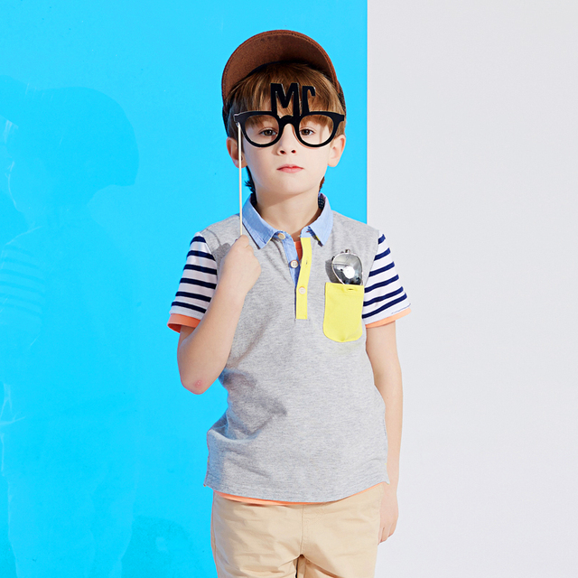 4b8cce0aac Cotton Style Short Sleeve Shirts Children Baby Polo Shirt Tshirt Vetement  Garcon Kids Boys Clothes T