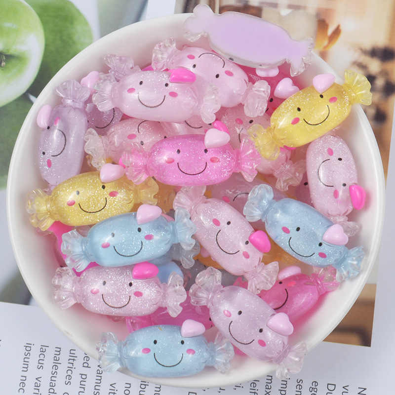 Smiley Candy 10pcs Addition Slime Supplies Accessories DIY Decoration for Charm Slime Filler Slime Kids Toys Decoration Gift E