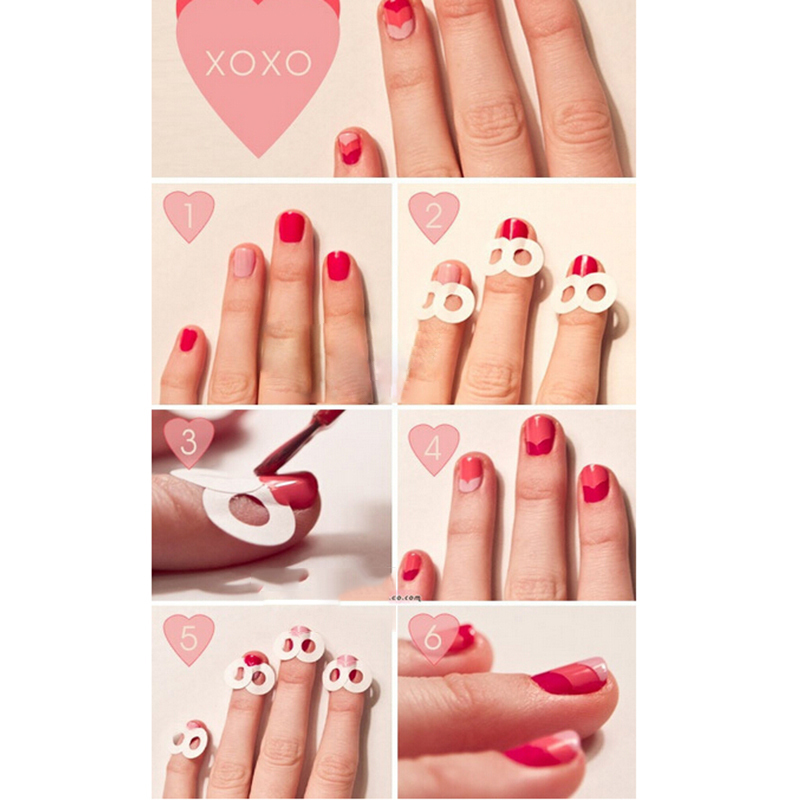 French Manicure Stickers Nail Art Tips Form Fringe Guides Sticker ...