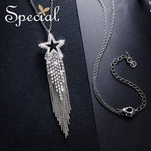 The SPECIAL New  Fashion personality long tassel necklace pendant thin across the night sky meteor,S2036N