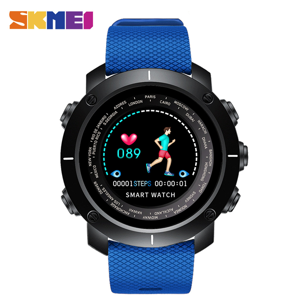 Digital Watches Watches Smart Watch Heart Rate Sport Watches Men Bluetooth Pedometer Calorie Rechargeable Led Digital Wristwatch Reloj Hombre Skmei 2018